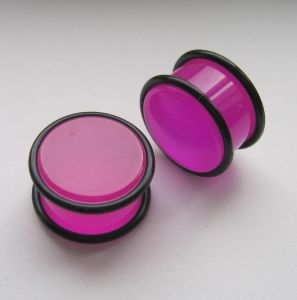Akrylátovej plug - fialová barva