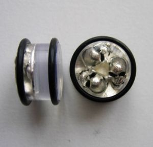 Akrylátovej plug - 3 lebky